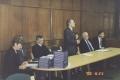 Uroczystość wręczenia dyplomów w roku 2000. (od lewej) dr inż. Zofia Krokosz-Krynke, kierownik PASB; prof. Jan Waszkiewicz, Marszałek Dolnośląski; prof. Andrzej Mulak, Rektor PWr; dr Richard Judd, President CCSU, prof. Zdzislaw Kremens, Dean School of Technology, CCSU