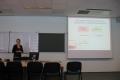 Anna Tarnawa, słuchaczka XXVIII edycji prezentuje swoja pracę końcową na seminarium zamykającym, rok 2012