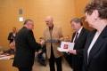 Uroczystość zakończenia XXIX edycji PASB, dyplomy wręczają prof. Jerzy Świątek, Dziekan Wydz. I-Z i prof. Walter A. Parker, CCSU, rok 2012