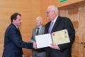 Dyplomy wręczają dr John Miller, President CCSU i prof.Andrzej Wiszniewski, Rektor PWr. rok 2013