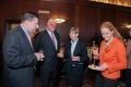 Po części oficjalnej, czas na toast i na rozmowy, (od lewej) Chris Galligan,Vicepresident  CCSU; dr John Miller, President CCSU; dr Zofia Krokosz-Krynke, kierownik PASB; mgr Ewa Mroczek, PWr, rok 2013